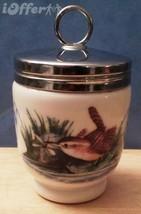 ENGLISH STAFFORDSHIRE-- ROYAL WORCESTER PORCELAIN JUMBO EGG CODDLER - BIRDS - $37.45