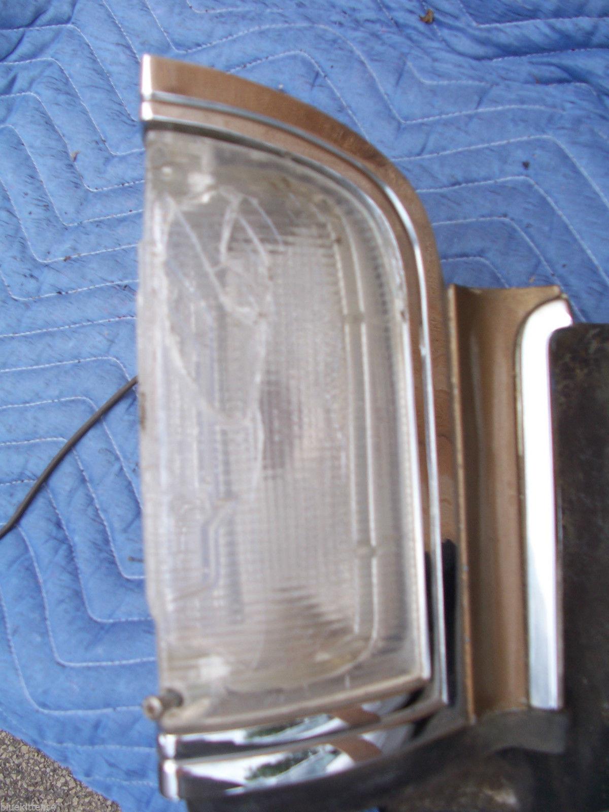 1969 ELDORADO RIGHT MARKER LIGHT CRACKED BROKEN SEE PHOTOS OEM USED CADILLAC image 2