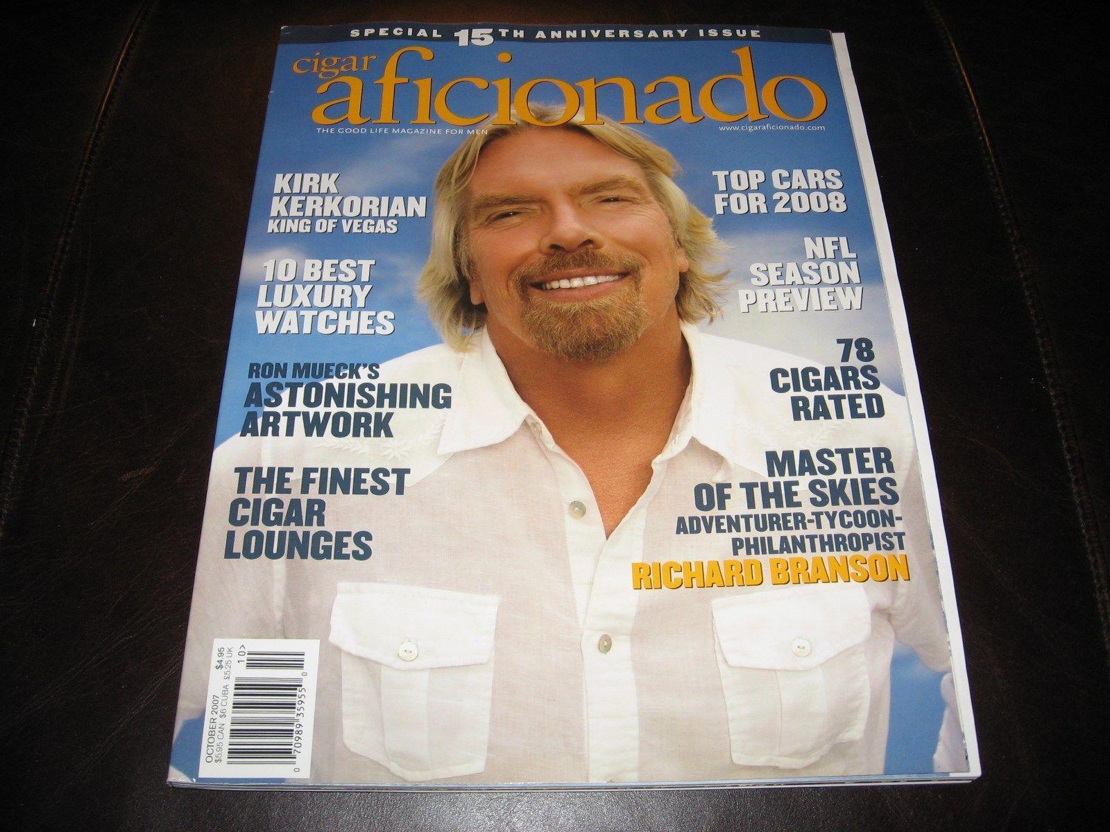 CIGAR AFICIONADO MAGAZINE * OCTOBER 2007 15th ANNIVERSARY ISSUE * NEW & CLEAN *