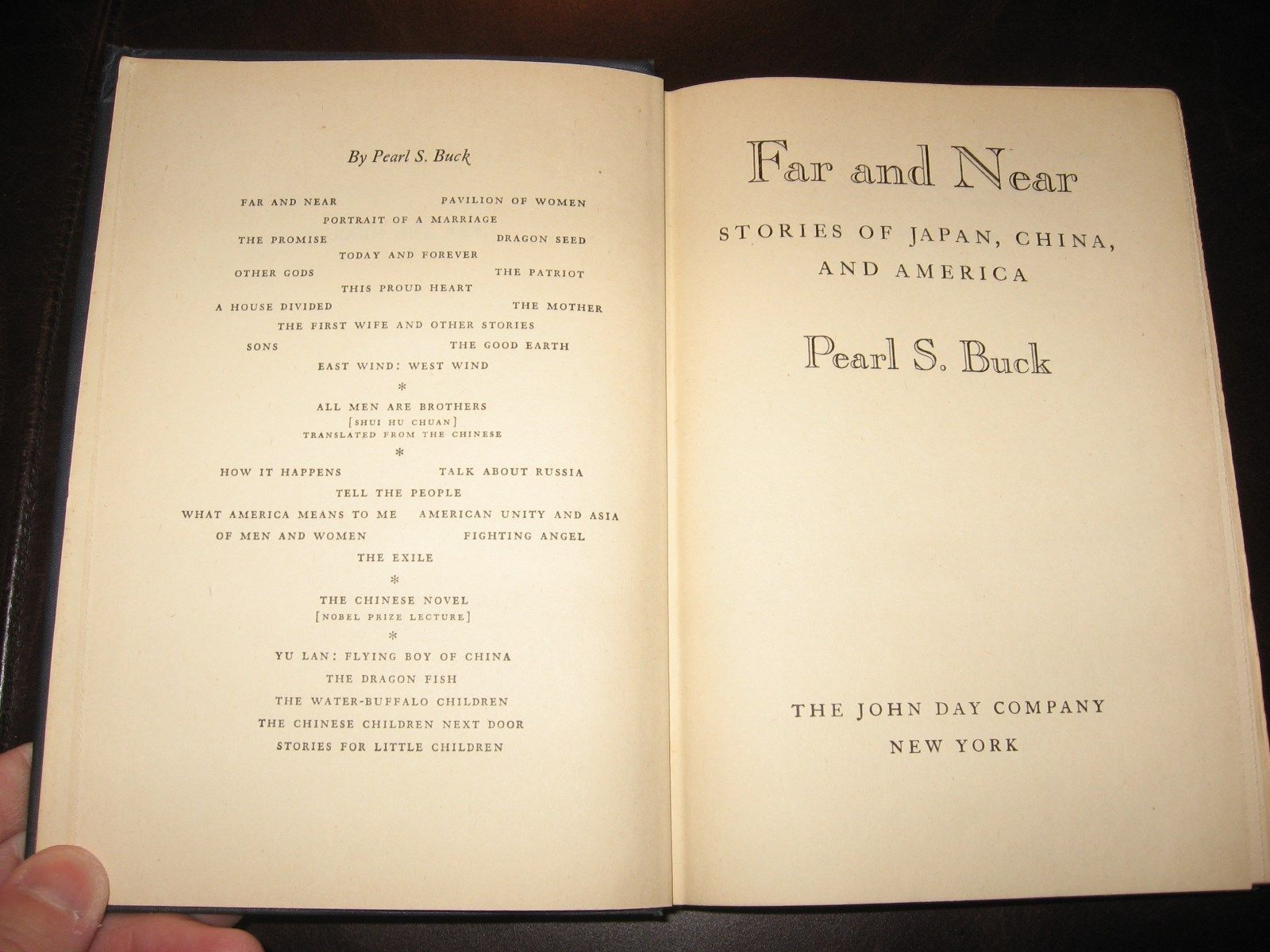 FAR AND NEAR * PEARL S. BUCK * 1947 HARDCOVER * VERY GOOD * JAPAN CHINA AMERICA image 4