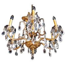 Baroque Rococo Bronze Crystal Chandelier Hanging Fixture Pendant Light A... - $1,776.30