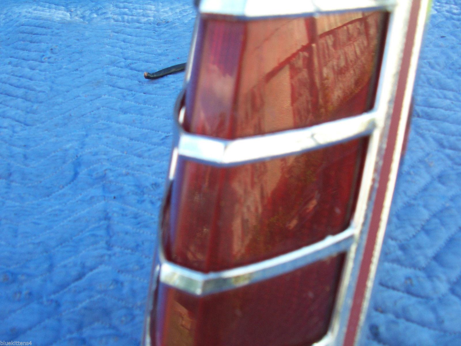 1978 MARK V LEFT CRACKED TAILLIGHT OEM USED ORIGINAL LINCOLN FORD PART 1979 1977 image 4