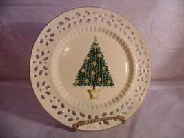 Formalities by Baum Bros Holly Creamware Collection China Plate Christma... - $6.67