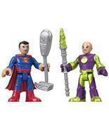 Fisher-Price Imaginext DC Super Friends, Superman & Lex Luthor - $404,73 MXN
