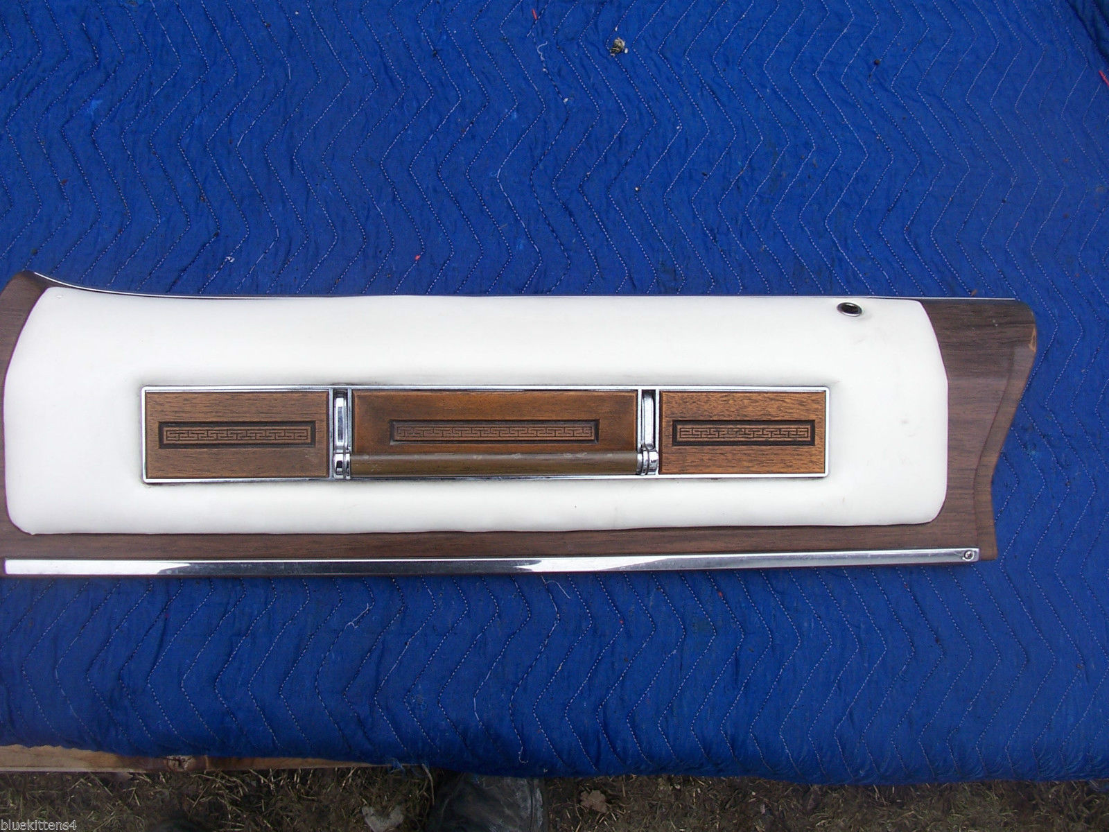 1975 SEDAN DEVILLE LEFT REAR DOOR PANEL UPPER HAS WEAR OEM USED CADILLAC