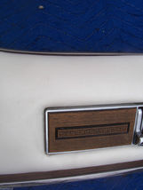 1975 SEDAN DEVILLE LEFT REAR DOOR PANEL UPPER HAS WEAR OEM USED CADILLAC image 5