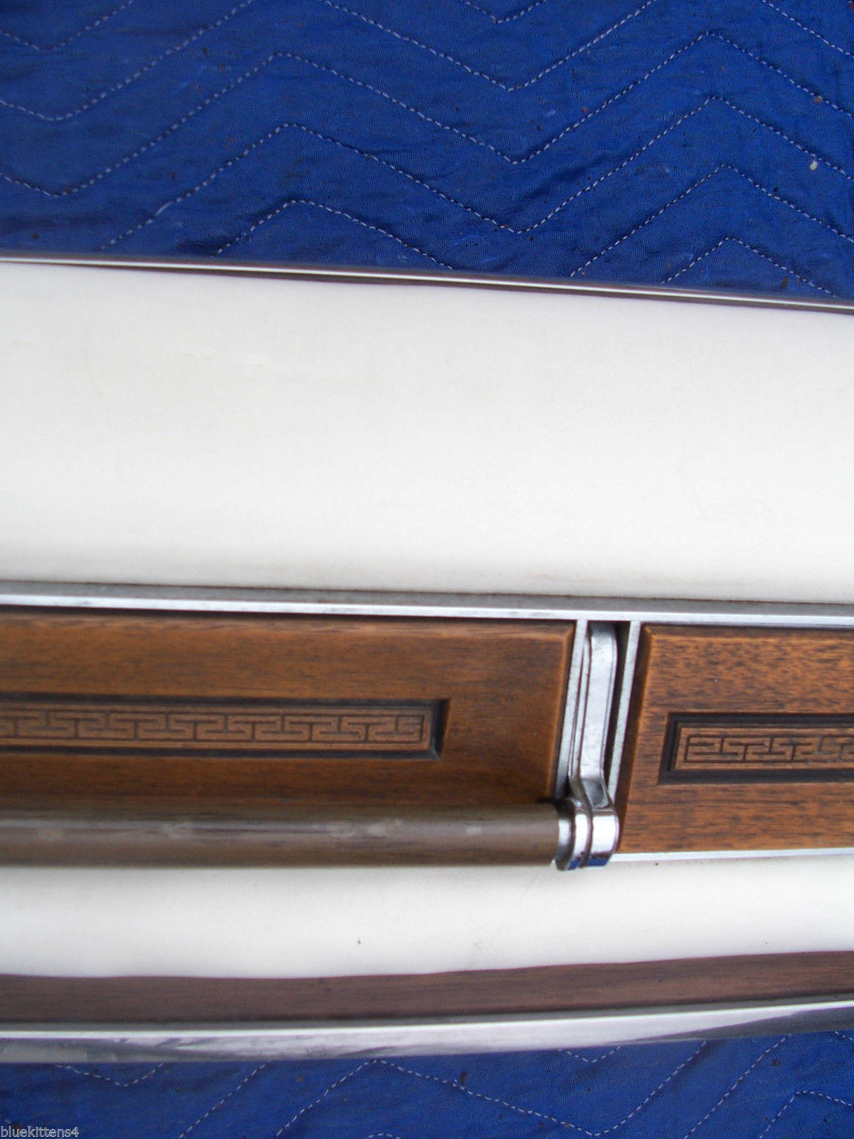 1975 SEDAN DEVILLE LEFT REAR DOOR PANEL UPPER HAS WEAR OEM USED CADILLAC image 6