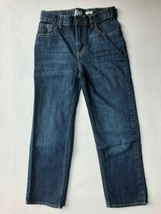 EUC Oshkosh Boy 8 Denim Classic Fit Dark Wash Blue Jeans Adjustable Waist Pants - $6.00