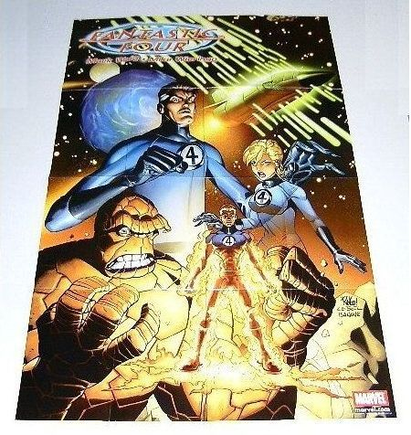 Primary image for 2002 FANTASTIC FOUR MARVEL COMIC BOOK PROMO POSTER 1: INVISIBLE GIRL/HUMAN TORCH