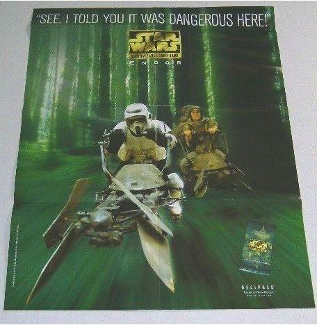 1999 STAR WARS CUSTOMIZABLE CARD GAME CCG COMIC BOOK SHOP PROMO POSTER: ENDOR Bonanza