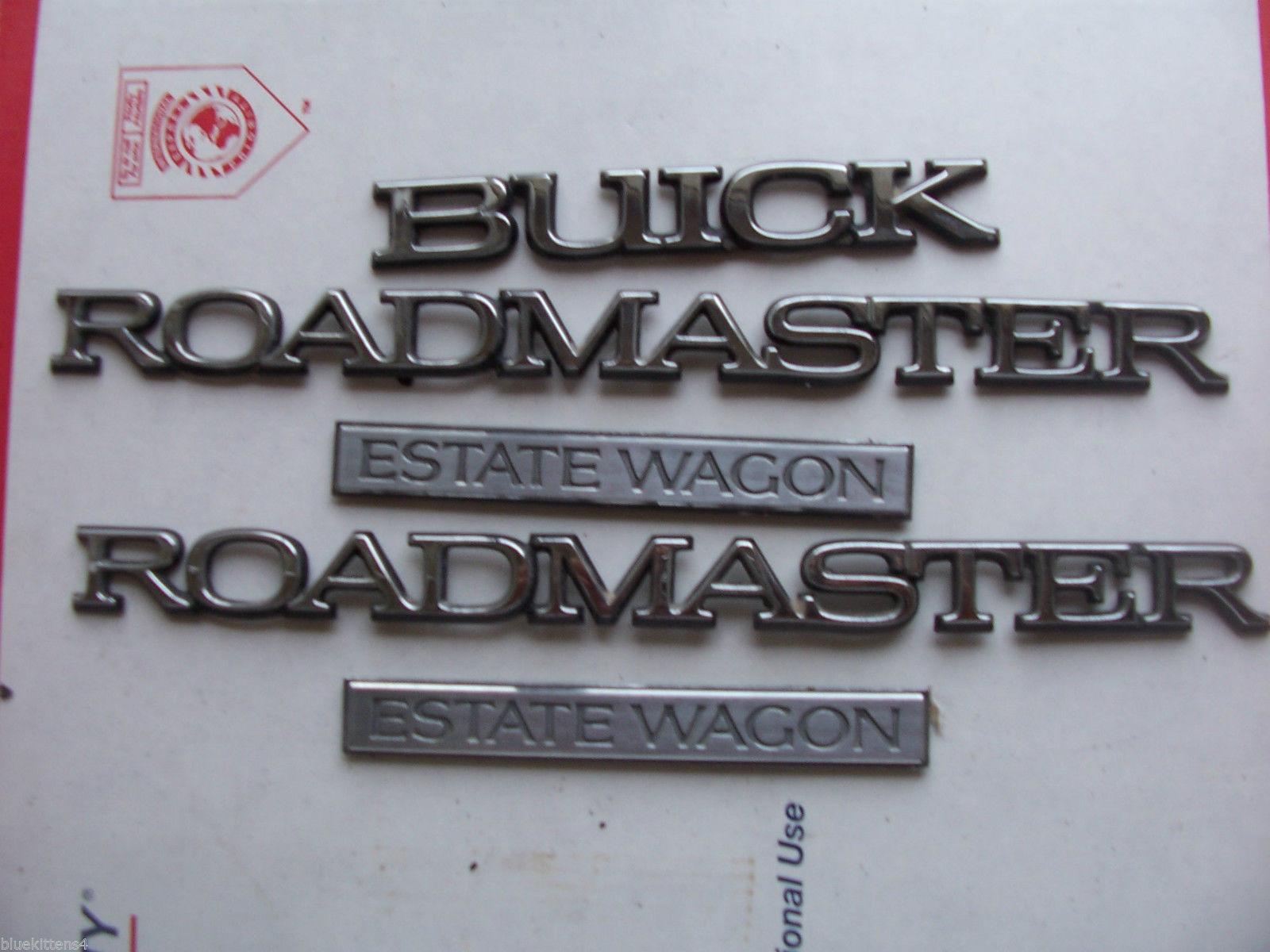 1996 ROADMASTER ESTATE WAGON SIDE & REAR 5 TRIM EMBLEM S OEM USED ORIG 1995 1994