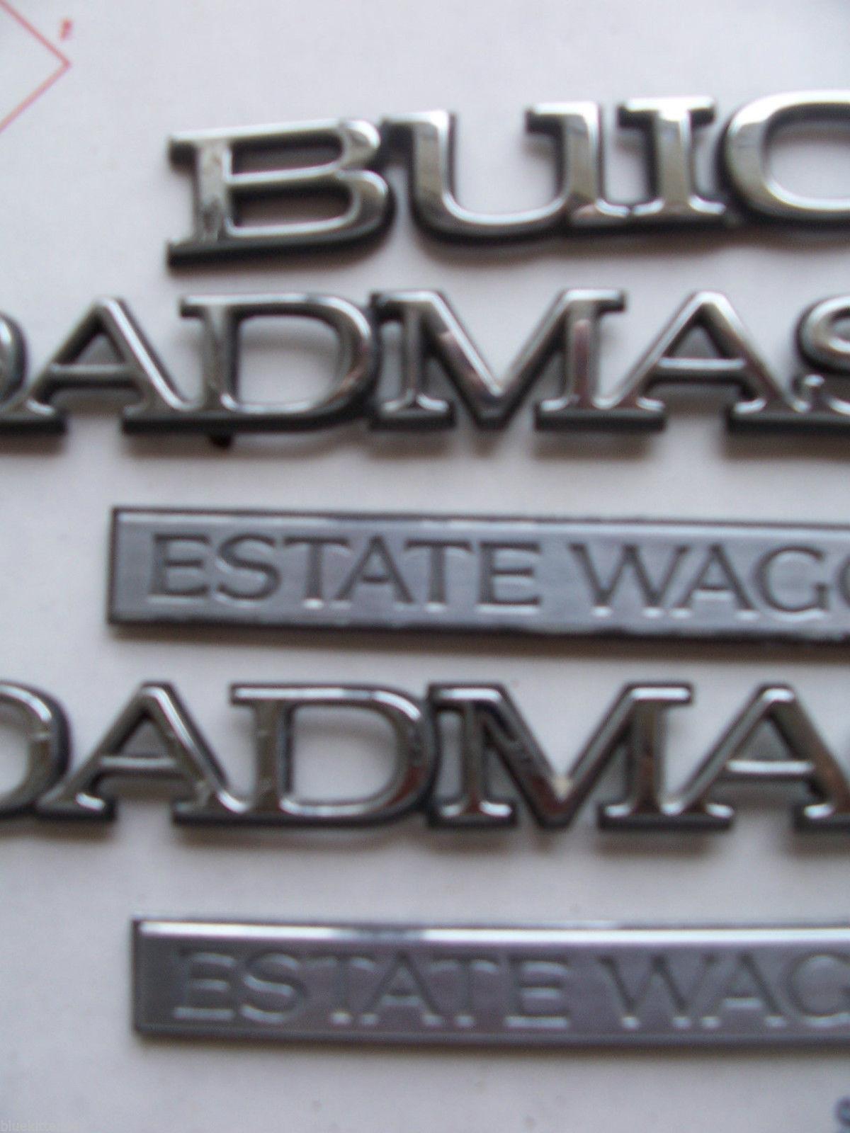 1996 ROADMASTER ESTATE WAGON SIDE & REAR 5 TRIM EMBLEM S OEM USED ORIG 1995 1994 image 4