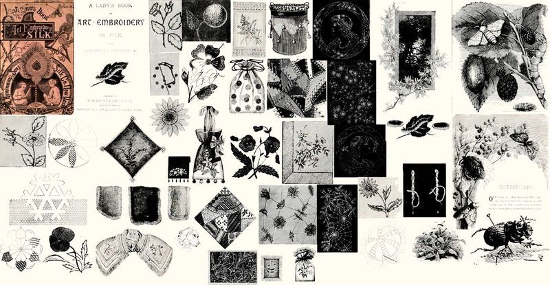 Primary image for 1870 Victorian Era Embroidery Book Crazy Quilt Stitches Doilies