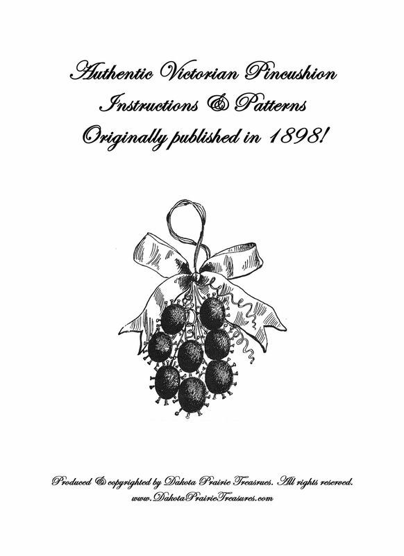 Primary image for 1898 Victorian Era Pincushion Pin Cushion Patterns Design Instruction DIY Ornies