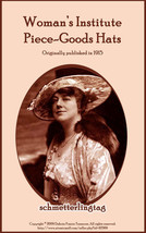 1915 Titanic Era Millinery Book Make Hats How Make Flapper Fabric Milliner Guide - $9.99