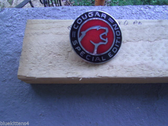1995 MERCURY COUGAR  SPECIAL EDITION  SIDE EMBLEM RED RIGHT  OEM USED ORIGINAL