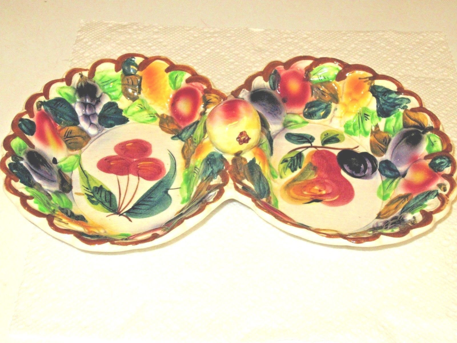 f59f29b843e Italy Pottey Divided Serving Dish Fruit and 50 similar items