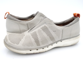 Clarks Womens 8.5M Gray Leather 15764 Slip On Comfort Sneaker Shoes EUR 38.5 - $29.99
