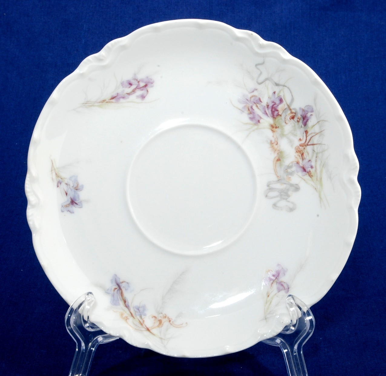 Primary image for Haviland Limoges Lavender Iris Flowers Saucer H&Co France SCH482A