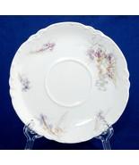 Haviland Limoges Lavender Iris Flowers Saucer H&Co France SCH482A  - $8.00