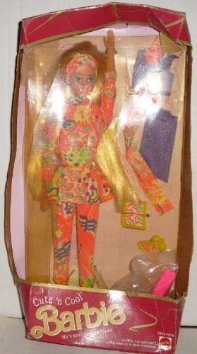 1991 BARBIE Doll CUTE 'N COOL MIB CRUSHED Barbie