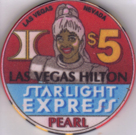Primary image for $5 STARLIGHT EXPRESS: Las Vegas Hilton Casino PEARL Chip