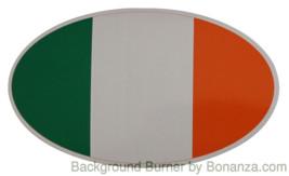 Oval sticker - Irish flag - $2.50