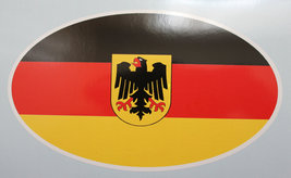 Oval sticker - German flag - $2.50