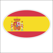 Oval sticker - Spanish flag - $2.50