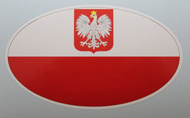 Oval sticker - Polish flag - $2.50