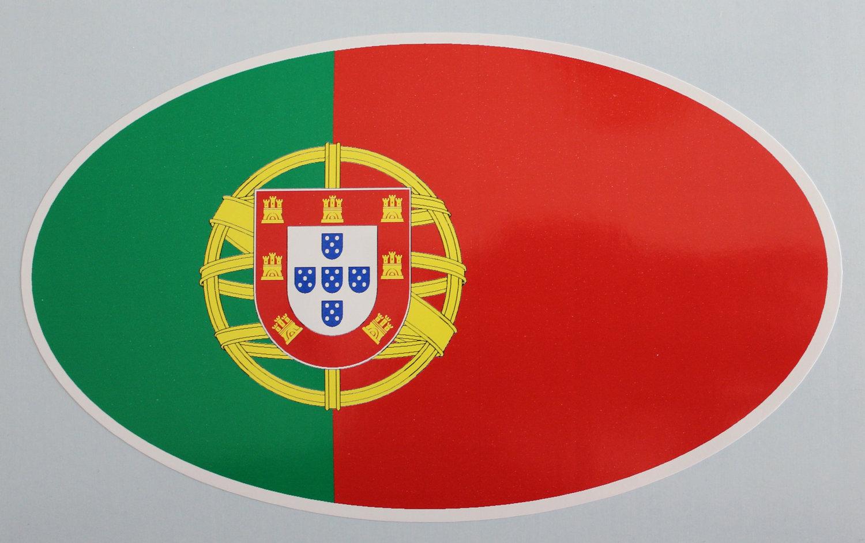 Oval sticker - Portuguese flag