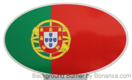 Oval sticker - Portuguese flag - $2.50