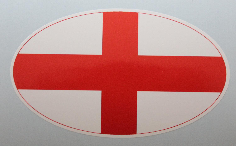 Oval sticker - English flag