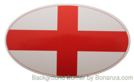 Oval sticker - English flag - $2.50