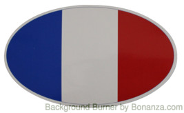 Oval sticker - French flag - $2.50