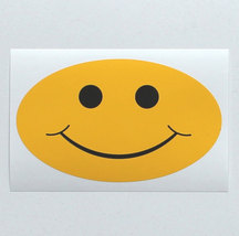 Smiley - oval vinyl sticker - $2.00