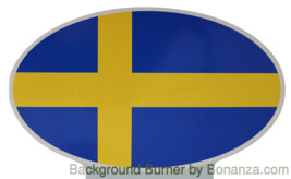 Oval sticker - Swedish flag - $2.50