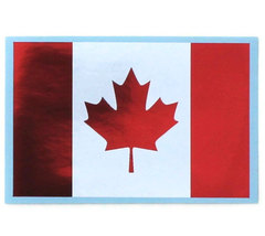 Canadian flag sticker - White and Metallic Red - $1.75