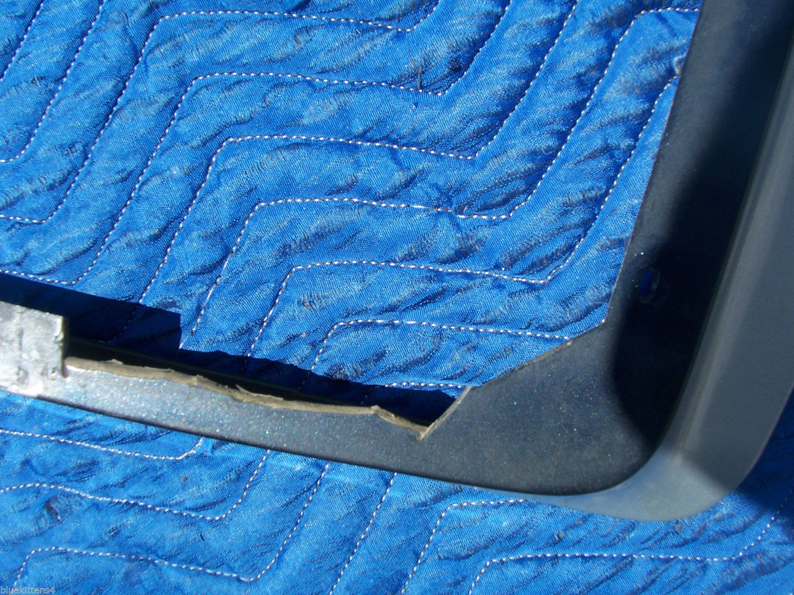 1992 BROUGHAM RIGHT BUMPER HEADER FILLER PANEL GRAY OEM USED ORIG CADILLAC 1991 image 3