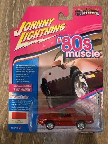 1988 CHEVROLET CORVETTE RED LTD 4036PCS 1/64 JOHNNY LIGHTNING JLMC014/ JLSP026 A