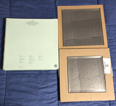 """P7035 PartyLite 7"""" & 8.5"""" Mirrored Beveled Candle Coaster Set - New In Box - $4.45"""