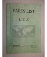 Leadwell LTC-50 Part List Manual - $29.00