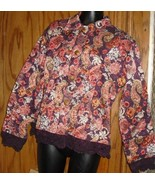 NWT FLASHBACK COUTURE Artsy beaded Jacket crochet trim - $30.99