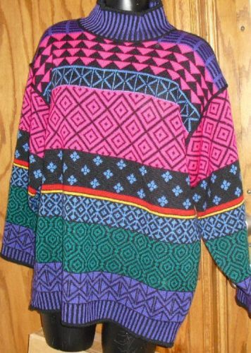 OBERMEYER lady wool blend SKI pullover Sweater size S Bonanza