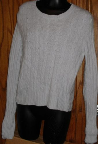 GEORGE 100% Cashmere Cable SWEATER Size L 12/14 George