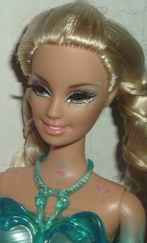BARBIE Doll blonde, eyelashes molded outfit w/shirt Mattel