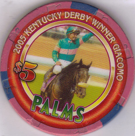 Primary image for $5 2005 KENTUCKY DERBY WINNER GIACOMO Palms Vegas Chip, vintage