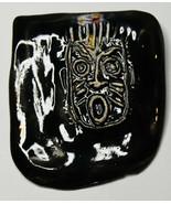 """3"""" Original Luanne Tackett Simpson Abstract Black Face Ceramic Brooch #41 - $24.93"""