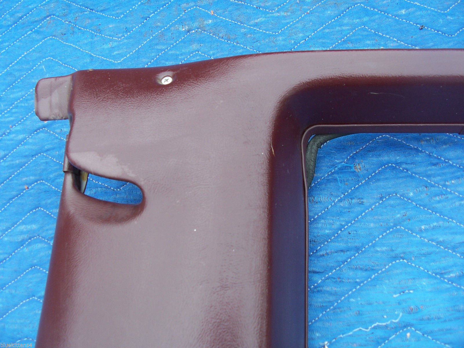 1977 COUPE DEVILLE RIGHT OPERA WINDOW TRIM PANEL OEM USED CADILLAC PART image 2