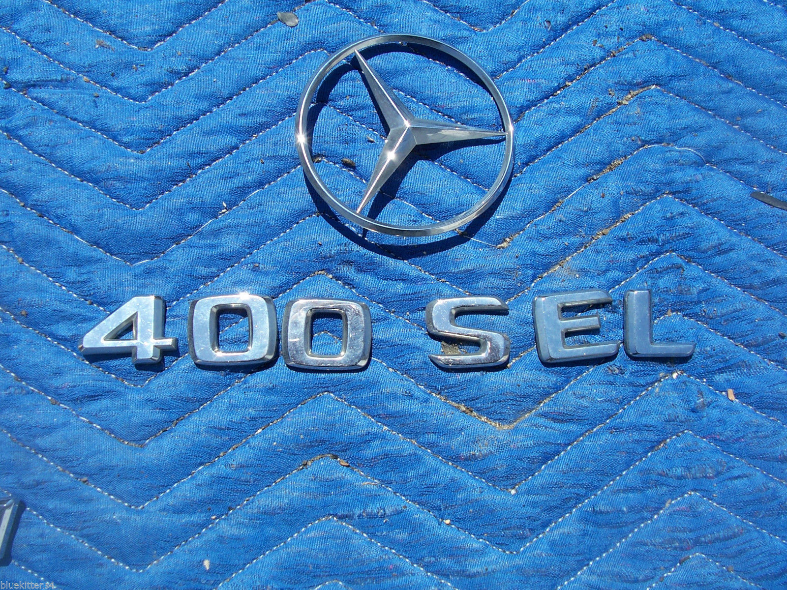 1993 400 SEL TRUNK TRIM ORNAMENT EMBLEM OEM USED ORIG MERCEDES BENZ